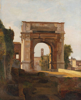 The Arch Of Titus And The Forum. Rome Poster by Jules Coignet
