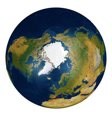 The Arctic From Space Poster