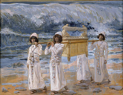 The Ark Passes Over The Jordan Poster by James Jacques Joseph Tissot