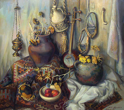 The Armenian Still-life With Culture Subjects Poster by Meruzhan Khachatryan
