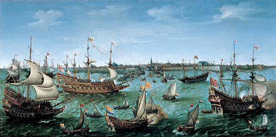 The Arrival At Vlissingen Of The Elector Palatinate Frederick V Poster