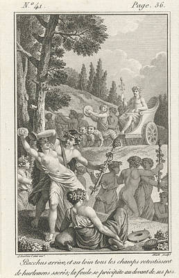 The Arrival Of Bacchus Poster