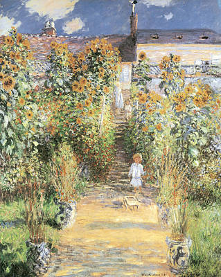 The Artist's Garden At Vetheuil Poster by Claude Monet