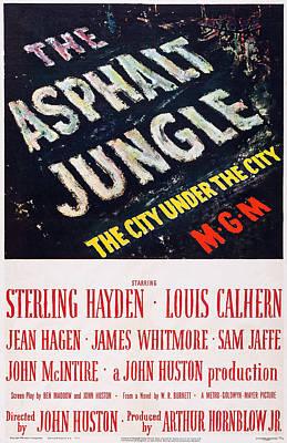 The Asphalt Jungle, Poster Art, 1950 Poster