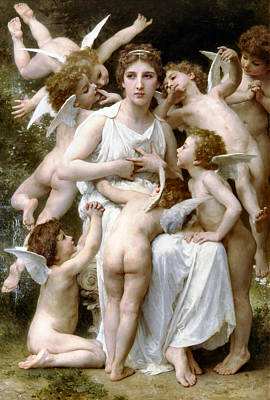 The Assault Poster by William Bouguereau