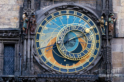 The Astronomical Clock In Prague Poster