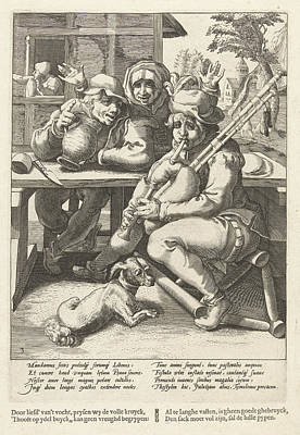 The Bagpipe Gives No Sound, Only When Full Poster by Karel Van Mander I And Franco Estius