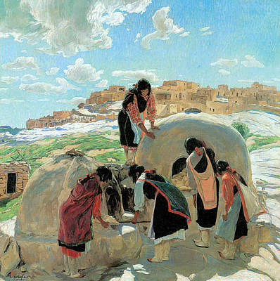 The Bakers Poster by Walter Ufer