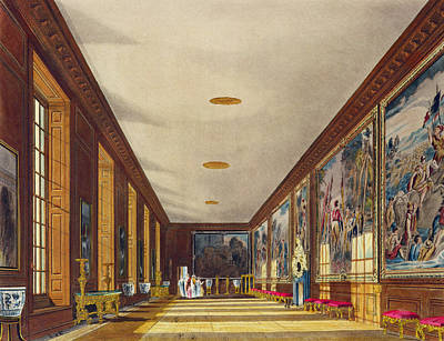 The Ball Room, Hampton Court, From The Poster by Richard Cattermole