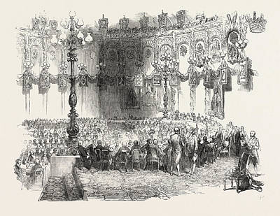 The Banquet In The Kings Room, Mansion House Dublin Poster by Irish School
