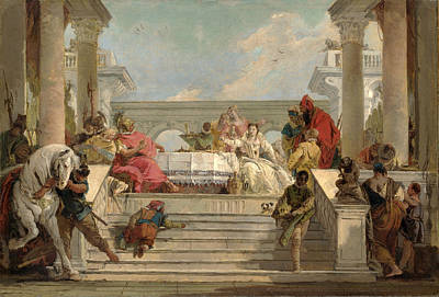 The Banquet Of Cleopatra Poster by Giovanni Battista Tiepolo