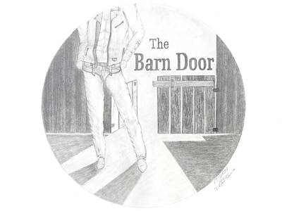 The Barn Door Logo Rendering Poster by PJ Jackson