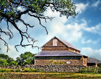The Barn With Tin Roof Poster by David and Carol Kelly