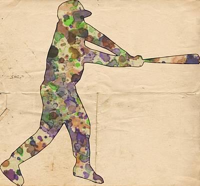 The Baseball Player Poster by Florian Rodarte