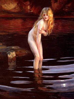 The Bather Poster by Paul Emile Chabas