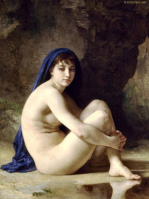 The Bather Poster by William Bouguereau