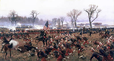 The Battle Of Fredericksburg Poster by Carl Rochling