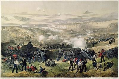 The Battle Of Inkerman, 5th November 1854, 1855 Colour Litho Poster by Andrew Maclure