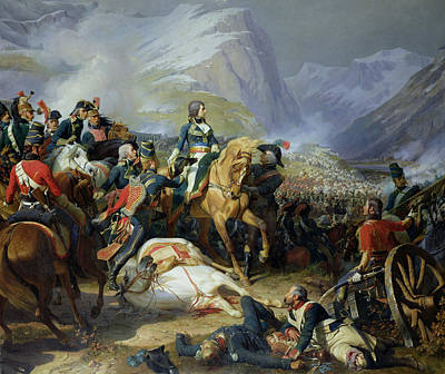 The Battle Of Rivoli, 1844 Oil On Canvas See Also 176686 Poster