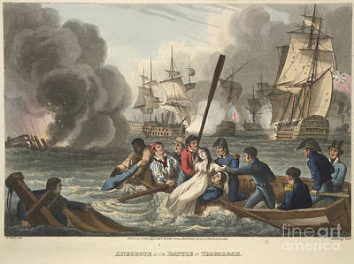 The Battle Of Trafalgar Poster by British Library