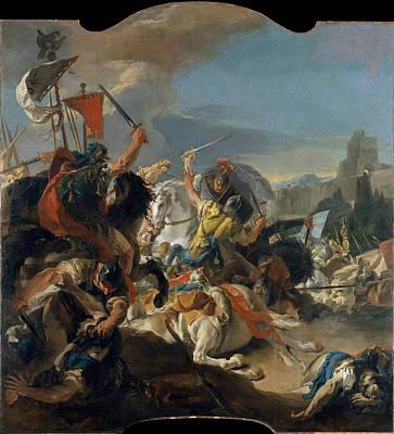 The Battle Of Vercellae Poster by Giovanni Battista Tiepolo