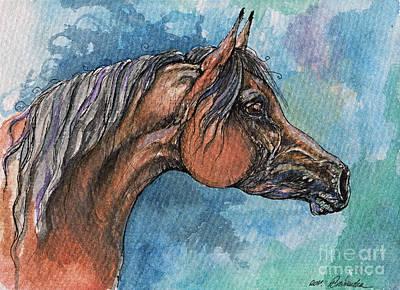 The Bay Arabian Horse 21 Poster by Angel  Tarantella