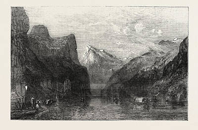 The Bay Of Uri Lake Of Lucerne Poster by Smith. William Collingwood (1815-1887), British