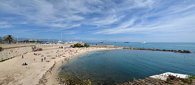 Poster featuring the photograph The Beach At Cap D' Antibes by Allen Sheffield