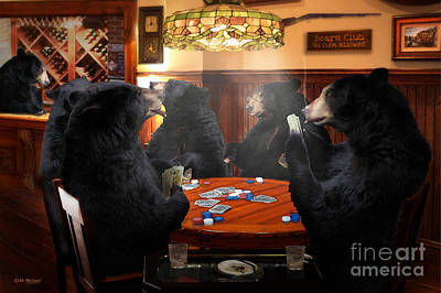 The Bears Club Poster by Michael A Woodside