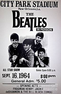 The Beatles Circa 1964 Poster