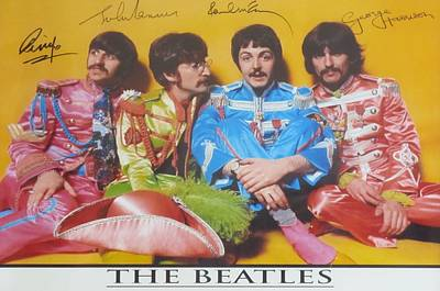 The Beatles Poster by Donna Wilson