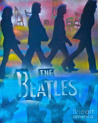 The Beatles Walk Poster