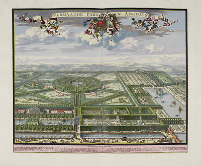The Beautiful Park Of Enghien Poster by British Library
