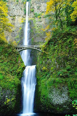 The Beauty Of Multnomah Falls Poster by Jeff Swan