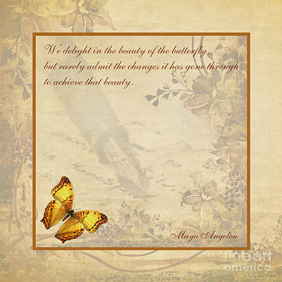The Beauty Of The Butterfly Poster by Olga Hamilton