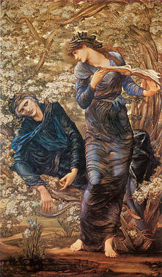 The Beguiling Of Merlin Poster by Sir Edward Burne-Jones
