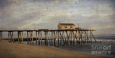 Poster featuring the photograph The Belmar Fishing Club Pier by Debra Fedchin