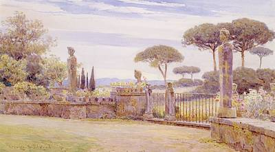 The Belvedere, Villa Piatti, Rome Poster by George Samuel Elgood