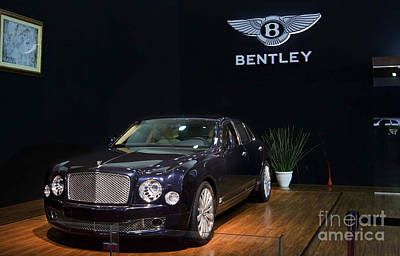 Poster featuring the photograph The Bentley Mulsanne Mulliner by Mohamed Elkhamisy
