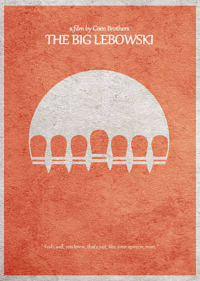 The Big Lebowski Poster by Ayse Deniz