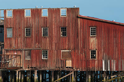 The Big Red Net Shed Is A Prominent Poster by Robert L. Potts