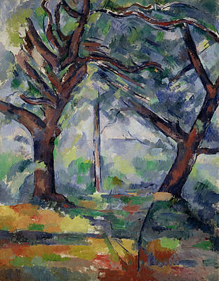 The Big Trees Poster by Paul Cezanne