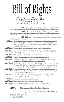 The Bill Of Rights Classic White Poster