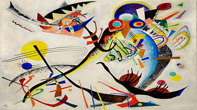 Poster featuring the painting The Bird by Wassily Kandinsky