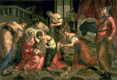 The Birth Of St. John The Baptist, 1550-59 Oil On Canvas Poster