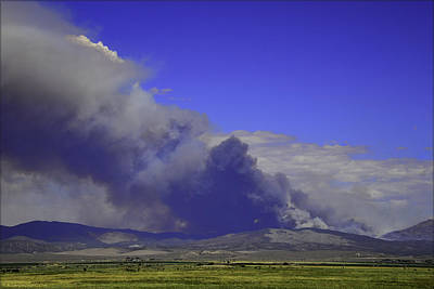The Bison Fire Burning In Northern Nevada Near Carson City. 7-6- Poster by LeeAnn McLaneGoetz McLaneGoetzStudioLLCcom