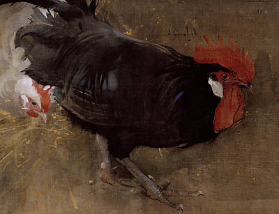 The Black Cock Poster by Joseph Crawhall