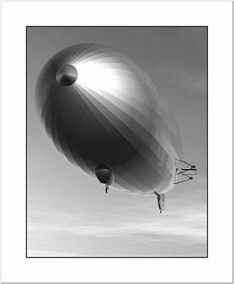 Poster featuring the digital art The Blimp... by Tim Fillingim