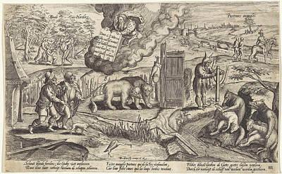 The Blind Shepherds, Antonie Wierix II Poster by Antonie Wierix (ii) And Willem Van Haecht (i)