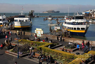 The Blue And Gold Fleet Ferry Boat At Pier 39 San Francisco California 5d26044 Poster